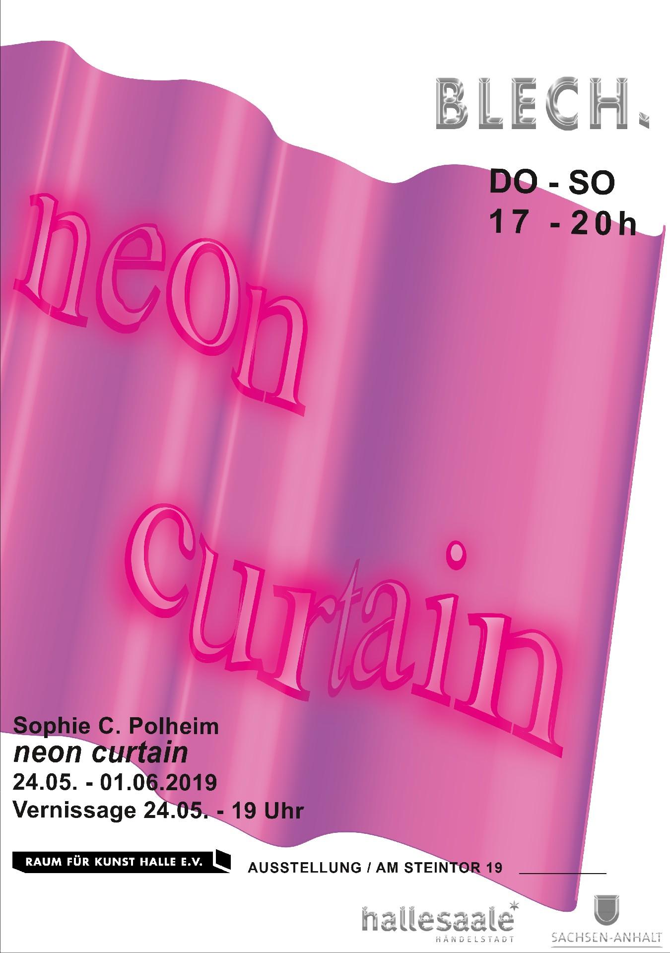 Blech - neon curtain
